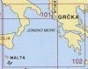 Generální mapa Jónské moře 102